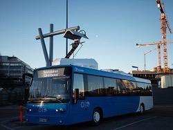 В Москве появился финский электробус с системой быстрой подзарядки на маршруте