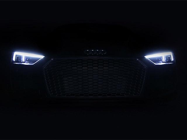 Audi R8 V10 plus будет оснащаться стандартными лазерными огнями