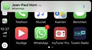 WhatsApp стал первым сторонним мессенджером с поддержкой Apple CarPlay