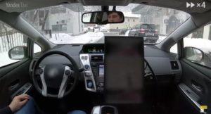 Беспилотник Яндекс.Такси проехался по в зимней Москве