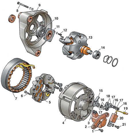 схема генератора Бош