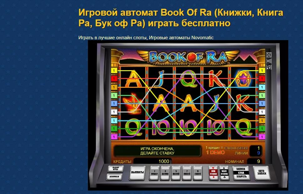 Обзор игрового автомата Book Of Ra